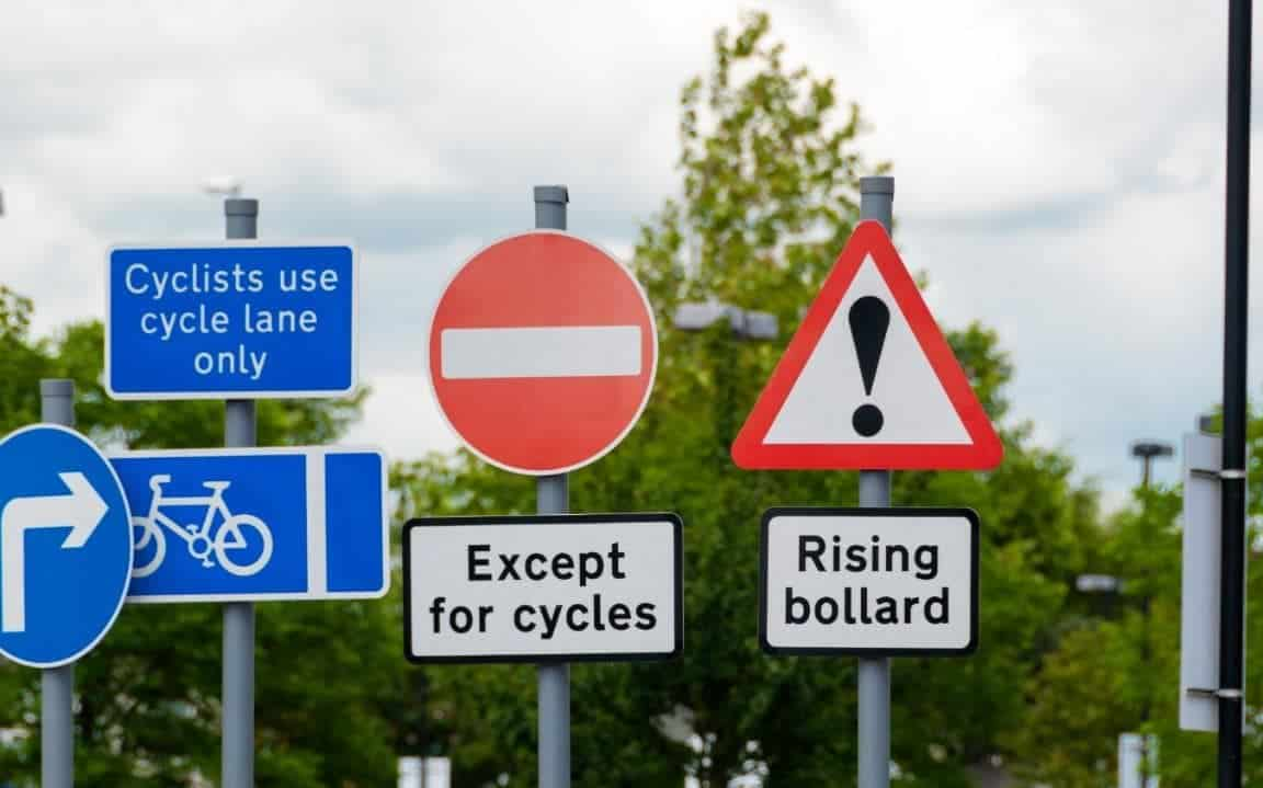 Cycle road signs