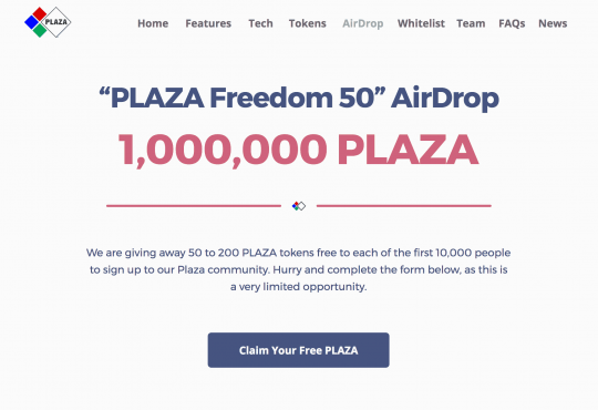 Plaza Airdrop
